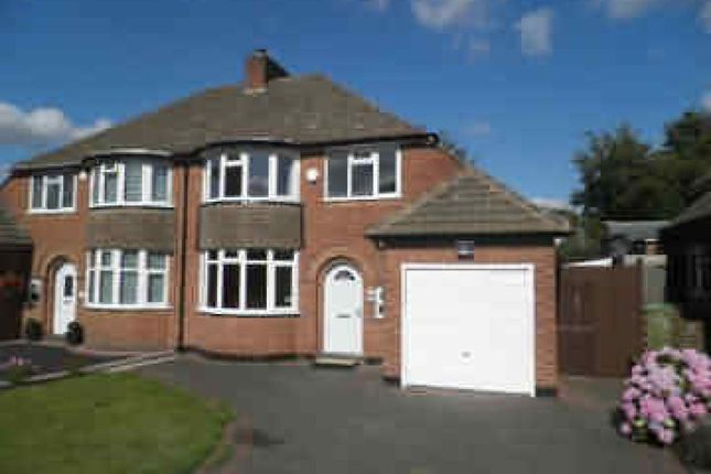 Thumbnail Semi-detached house to rent in Chester Road, Streetly, Sutton Coldfield