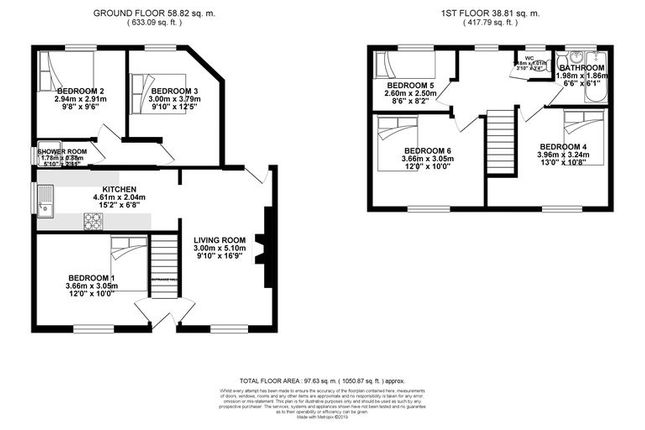 Floorplan of The Avenue, Brighton BN2