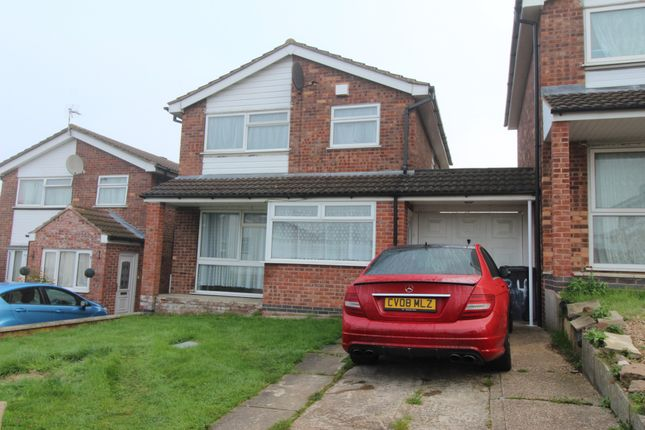 Thumbnail Detached house to rent in Okehampton Avenue, Leicester, Leicestershire