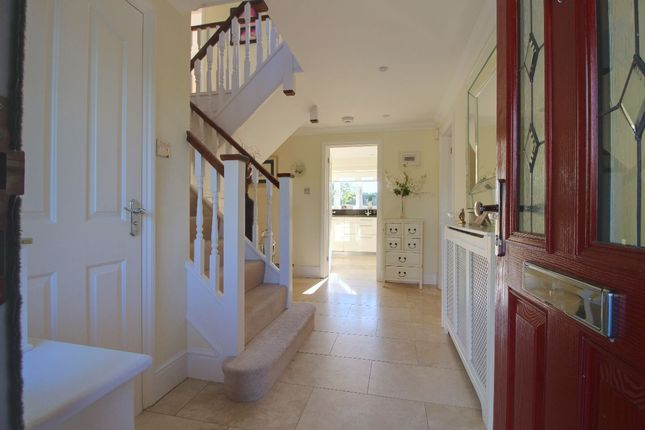 Travetine Stone Hallway Welcomes You, With Decadent Underfloor Heating