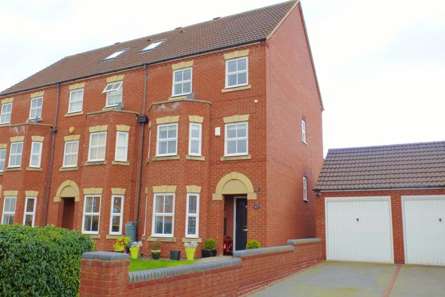 Thumbnail End terrace house for sale in Morecroft Drive, Warwick
