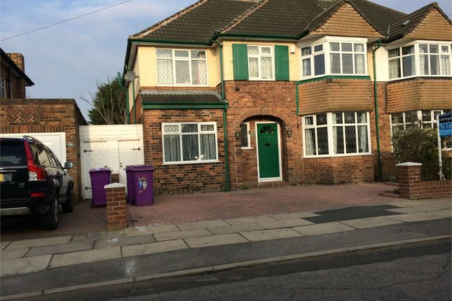 Thumbnail Semi-detached house to rent in Woolacombe Road, Childwall, Liverpool