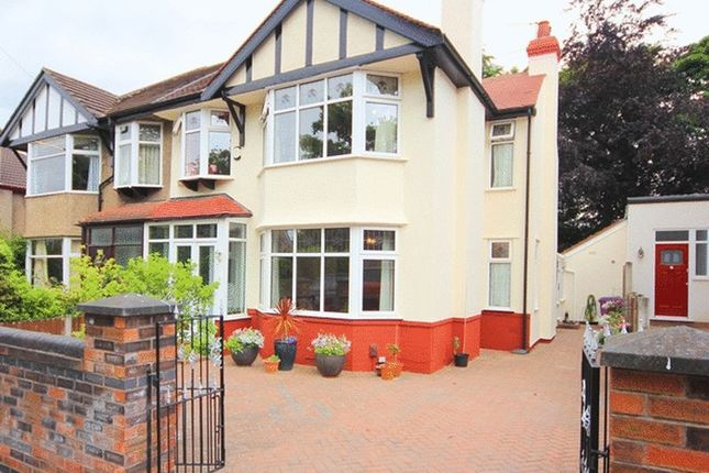 Thumbnail Semi-detached house for sale in Cleveley Road, Calderstones, Liverpool