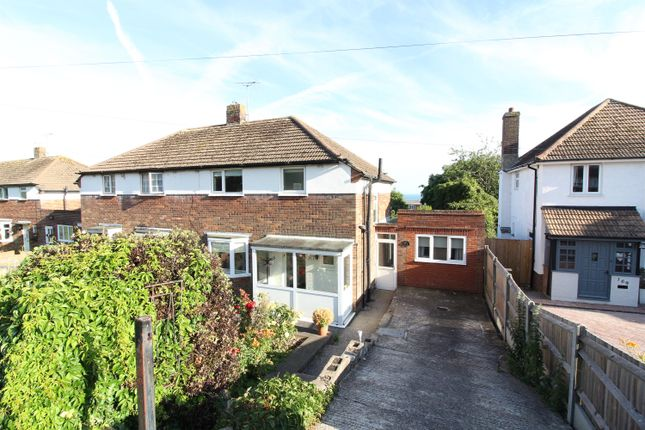 Thumbnail Semi-detached house for sale in Wear Bay Road, Folkestone