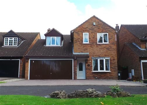 Thumbnail Detached house for sale in Keats Close, Four Oaks, Sutton Coldfield