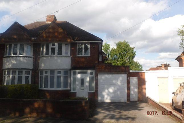 Thumbnail Semi-detached house to rent in Glen Rise, Birmingham