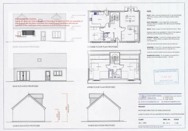 Plans of Maxwood Road, Galston, East Ayrshire KA4