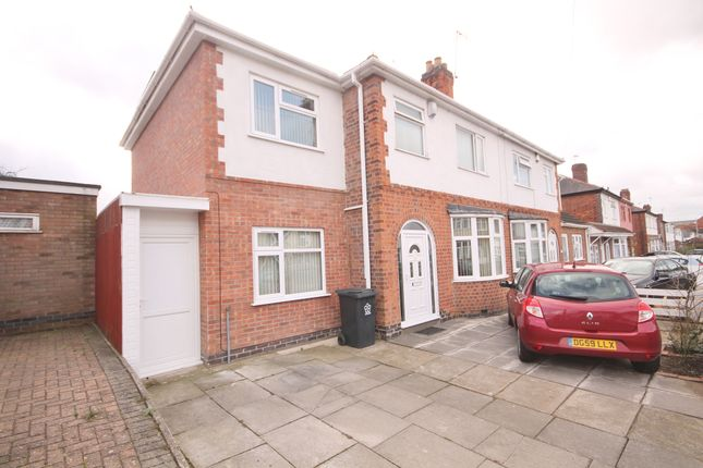 Thumbnail Semi-detached house for sale in Gainsborough Road, Knighton, Leicester