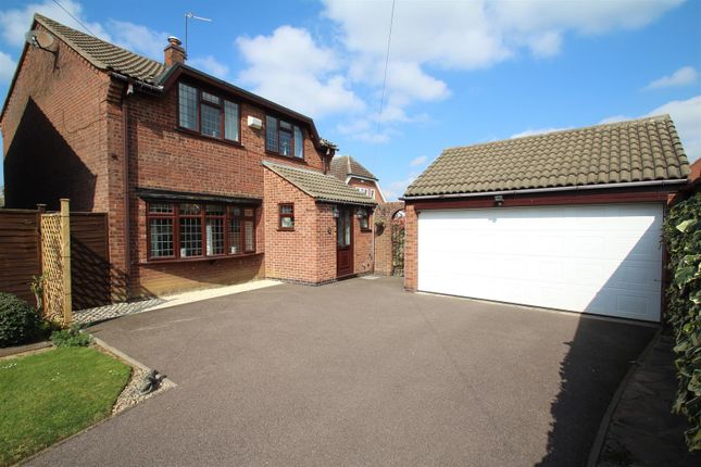 Thumbnail 4 bed detached house for sale in Roundhill Close, Syston, Leicester