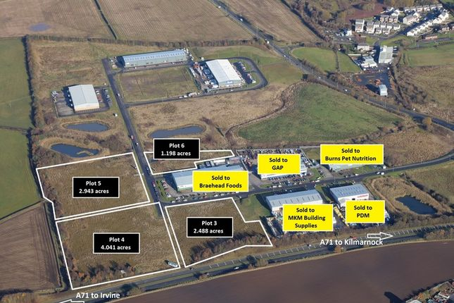 Thumbnail Land for sale in Moorfield North Industrial Park, Kilmarnock