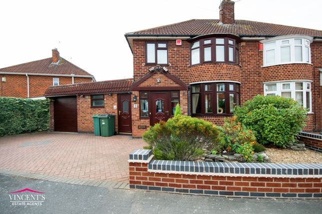 Semi-detached house for sale in Chislehurst Avenue, Leicester