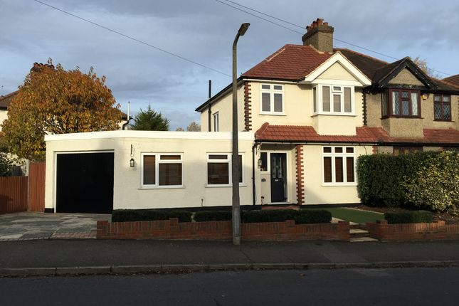 Thumbnail Semi-detached house for sale in Lumley Road, Cheam