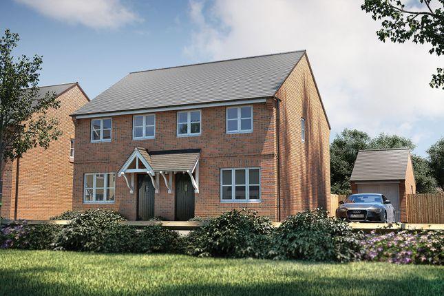 "Thumbnail Semi-detached house for sale in ""The Studland"" at Heath Lane, Lowton, Warrington"
