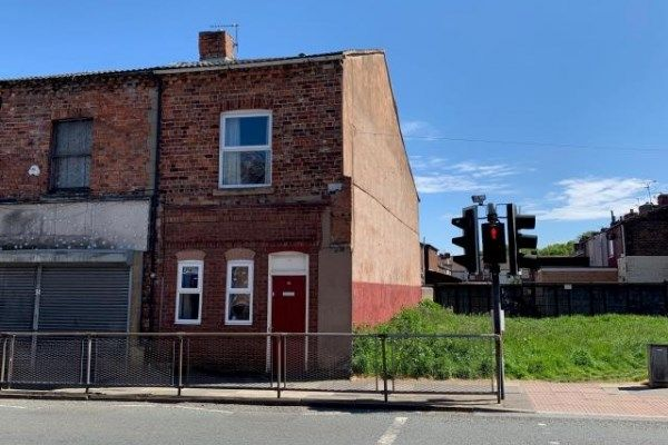 Front of Townsend Lane, Anfield, Liverpool, Merseyside L6