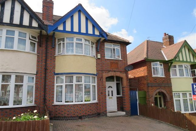 Thumbnail Semi-detached house for sale in Dorchester Road, Western Park, Leicester