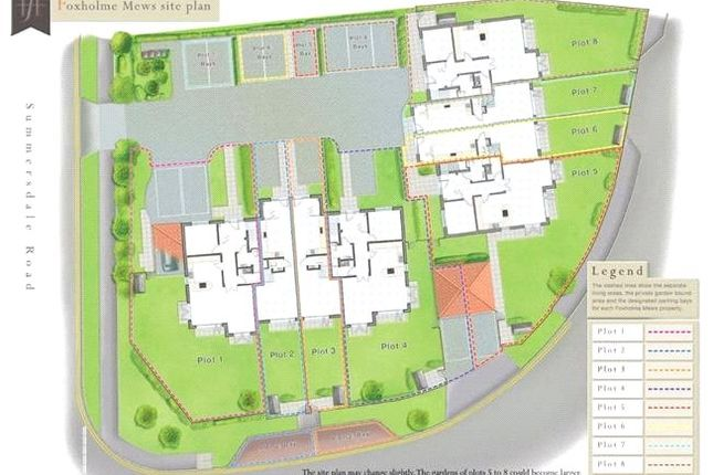 Site Map of Foxholme Close, Summersdale Road, Chichester, West Sussex PO19