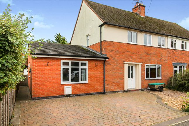Thumbnail Semi-detached house for sale in Oak Avenue, Leire, Lutterworth, Leicestershire