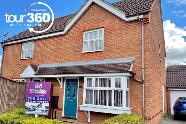 3 bed semi-detached house for sale in Churchfields Road, Folkingham, Sleaford NG34