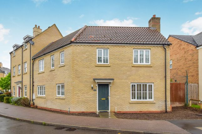 Thumbnail End terrace house for sale in Christie Drive, Huntingdon