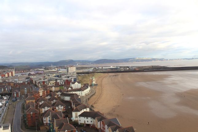 Flat to rent in Meridian Tower, Swansea Marina, Swansea
