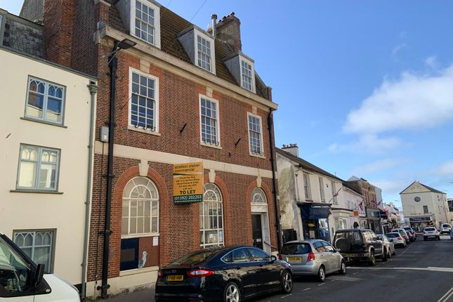Retail premises to let in High Street, Sidmouth