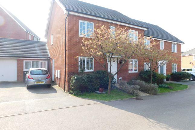 Thumbnail Semi-detached house for sale in Guillemot Close, Stowmarket