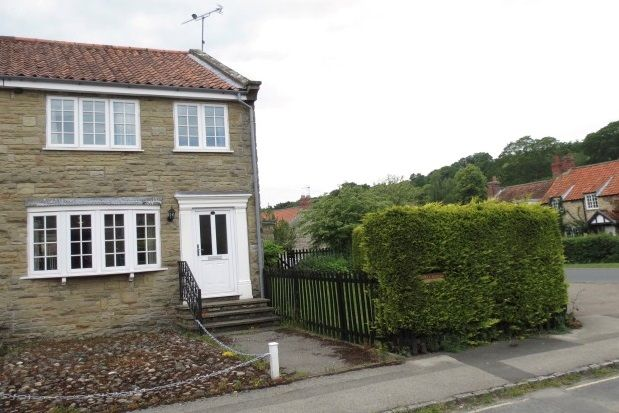 Thumbnail End terrace house to rent in Brook Lane, Thornton Dale, Pickering