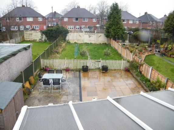 Rear Garden of Selworthy Drive, Crewe, Cheshire CW1