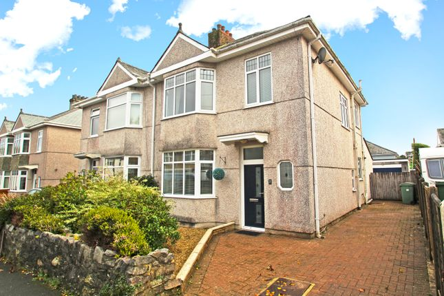 Thumbnail 3 bed semi-detached house for sale in Moreton Avenue, Plymouth