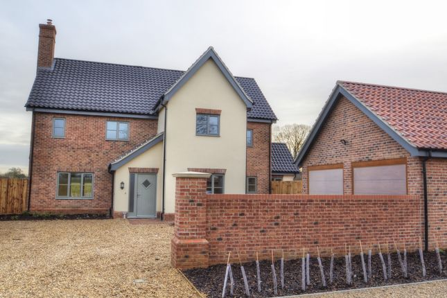 Thumbnail Detached house for sale in Cookes Road, Bergh Apton, Norwich
