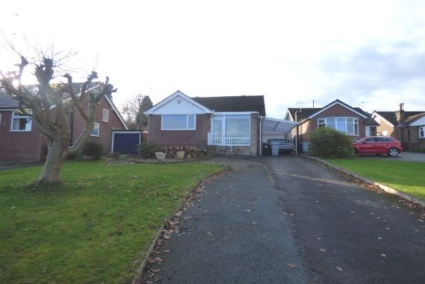 Thumbnail Bungalow to rent in Ashwood Road, Disley, Stockport