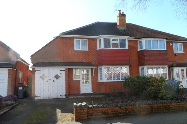 Thumbnail Semi-detached house to rent in Ulverley Green Road, Solihull