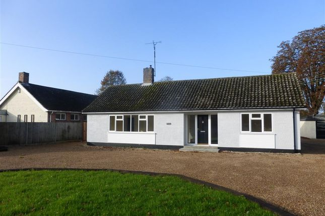 Thumbnail Detached bungalow to rent in Bury Road, Thetford