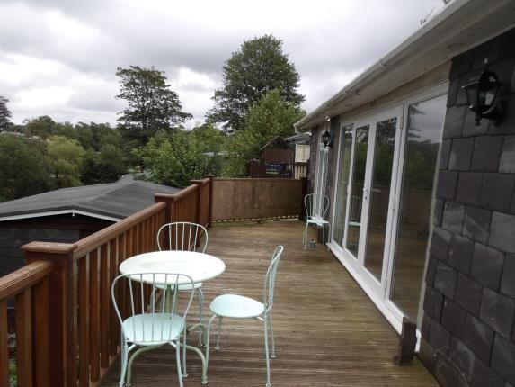 Balcony of Glan Gwna Holiday Park, Caeathro, Caernarfon, Gwynedd LL55