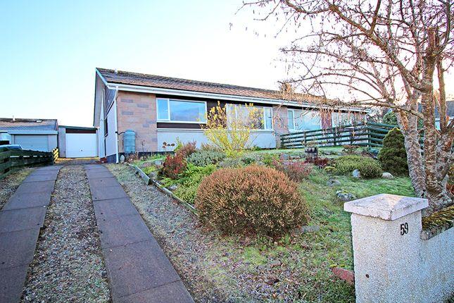 Thumbnail Semi-detached bungalow for sale in Cradlehall Park, Inverness