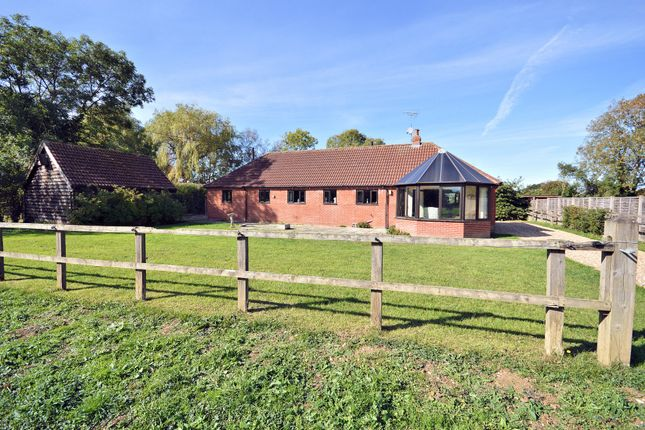Thumbnail Detached bungalow for sale in Keeling Hall Road, Foulsham, Dereham