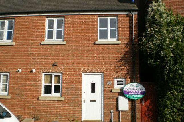 Thumbnail End terrace house to rent in Cerne Avenue, Gillingham, Dorset