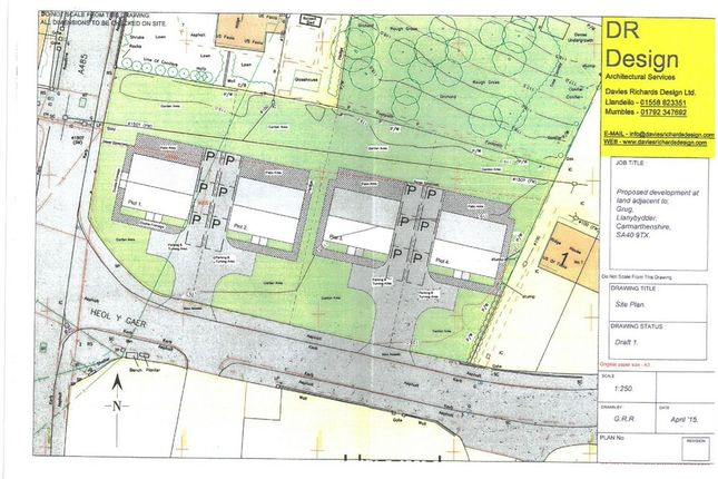 Thumbnail Land for sale in Heol Y Gaer, Llanybydder