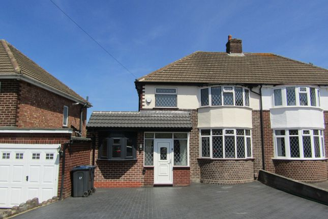 Thumbnail Semi-detached house to rent in Lindens Drive, Sutton Coldfield
