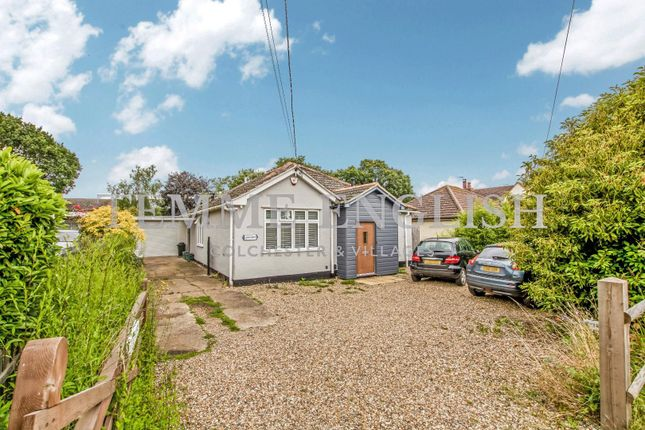 Thumbnail Detached bungalow for sale in Halstead Road, Eight Ash Green, Colchester