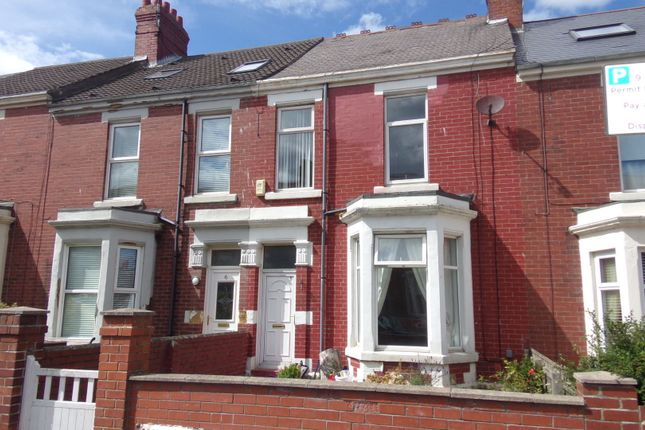 Thumbnail Terraced house to rent in Beach Avenue, Whitley Bay