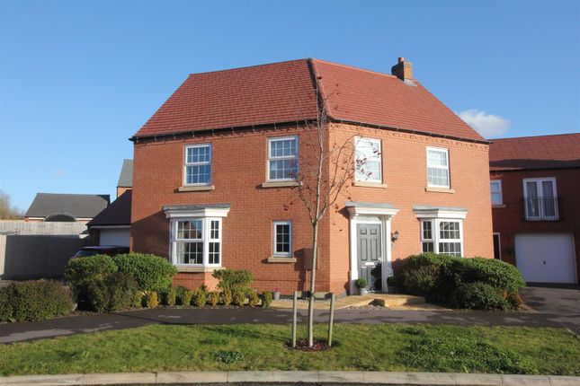 Thumbnail Detached house for sale in William Spencer Avenue, Sapcote, Leicester