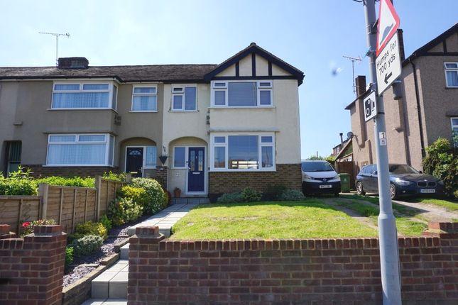 Thumbnail End terrace house for sale in Bridge Road, Chessington