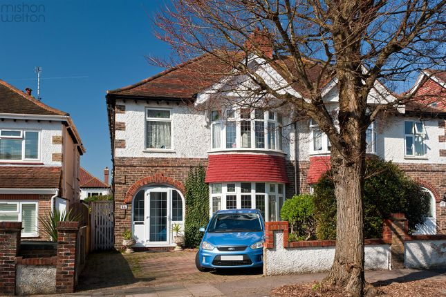 Thumbnail Semi-detached house for sale in Braemore Road, Hove