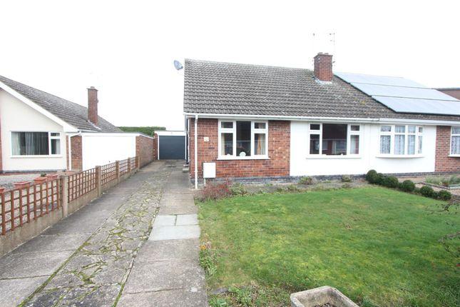 Thumbnail Semi-detached bungalow for sale in Castle Close, Sapcote, Leicester