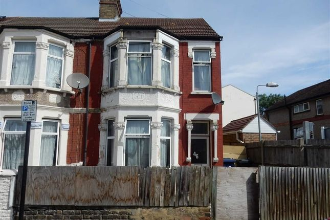 Thumbnail End terrace house for sale in Orchard Avenue, Southall, Middlesex