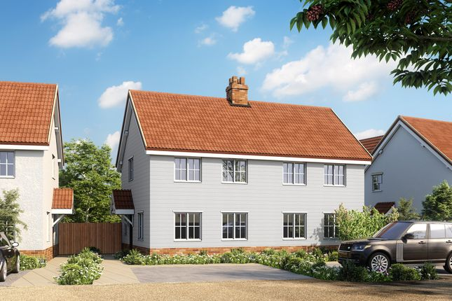 Thumbnail Semi-detached house for sale in Mill Road, Badingham, Woodbridge