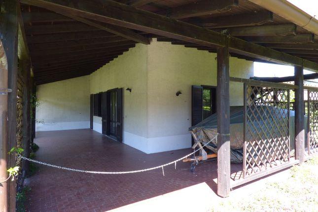 Covered Porch of Via Case Sparse, Domaso, Como, Lombardy, Italy