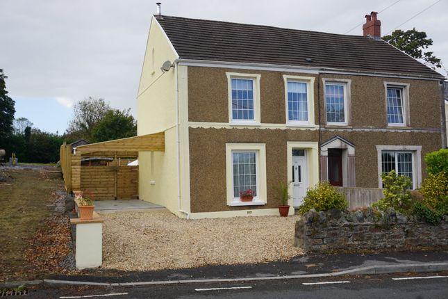 Semi-detached house for sale in Llannon Road, Pontyberem, Llanelli