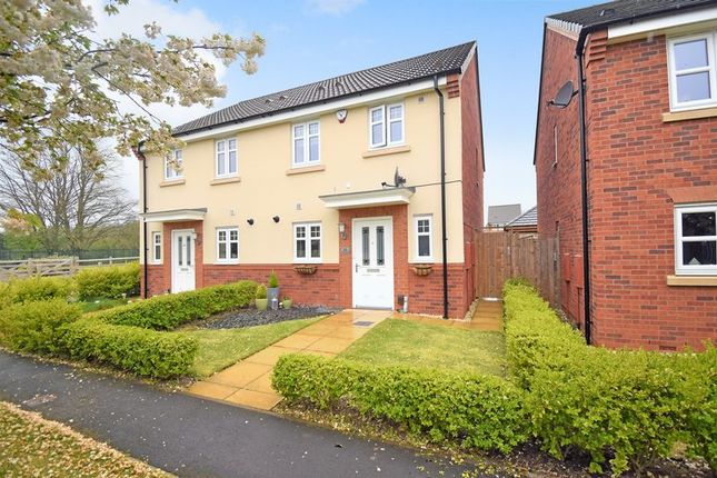 Thumbnail Semi-detached house for sale in Yew Tree Meadow, Hadley, Telford